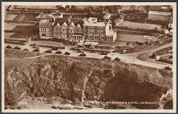 St Rumon's Hotel, Newquay, Cornwall, C.1950 - Aero Pictorial RP Postcard - Newquay