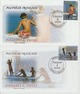 Polynésie Française 2003 Pirogues 690-693 - FDC