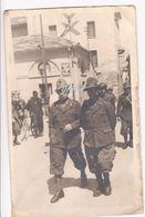 Aosta Piazza Della Repubblica Alpini Fotografica Bordi Piegati 28 Maggio 1943 - Italy
