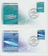 Polynésie Française 2004 Technologies De L'information 719-720 - FDC