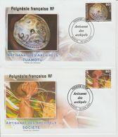 Polynésie Française 2004 Artisanat 713-716 - FDC