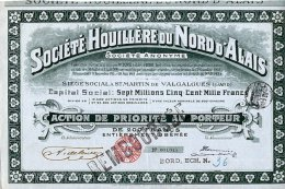 SOCIETE HOUILLERE DU NORD D'ALAIS - Mines