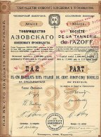 RUSSIE / RUSSIA / SOCIETE DE LA TANNERIE DE L'AZOFF 1908 - Russia