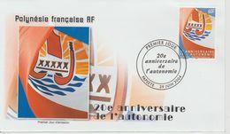 Polynésie Française 2004 Autonomie 722 - FDC