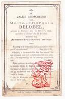 DP Maria Th. DeLobel ° Beselare Zonnebeke 1802 † Geluwe Wervik 1869 X Joannes B. Delrue - Devotion Images