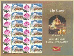 New Special My Stamp,Dargah Sharif, Ajmer, Sufi Saint, Moinuddin Chishti,Shrine,Sheet Let Of 12 MNH, By India Post - Islam