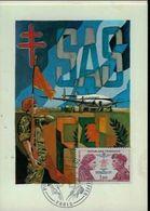 Carte Maximum Heros Parachutistes Et Commandos SAS FFL 1973. - 2. Weltkrieg