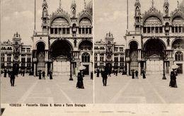 CPA Venezia Piazzetta Chiesa S. Marco E Torre Orologio - Animée - Venezia (Venedig)