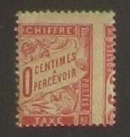 Taxe 30 C. Rouge 33 Superbe VARIETE Extraordinaire Piquage à Cheval - Rare - Errors & Oddities