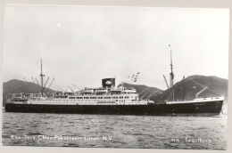 Nederlands Indië - KPM Fotokaart Van M.S. Tegelberg - Kon. Java-China Paketvaart Lijnen NV - Nederlands-Indië