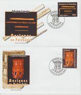 Polynésie Française 2005 Instruments De Musique 752-753 - FDC