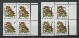 Bloc De 4  2189 P7a Var.2 Et Idem Préos   Sans Charnière  Variété Au Timbre 20 De La Planche  Cote 35,-E - 1985-.. Oiseaux (Buzin)