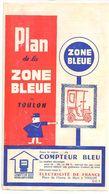 FRANCE/ANCIEN PLAN TRYPTICLE  DE ZONE BLEUE(1965)DE LA VILLLE DE TOULON/   NOM REUSES PUBLICITES AURECTO ET VERSO - Europe