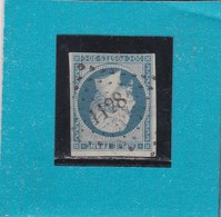 N° 14 Af Bleu Laiteux   PC 1128   DOUARNENEZ  /  FINISTERE   - REF 1447 + BDF - 1853-1860 Napoleon III