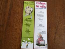 Marque Page Printemps Des Poètes X2 - Bookmarks