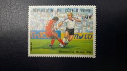 IVORY COAST COTE D'IVOIRE 1986 ELIMINATOIRE FOOTBALL COUPE MONDE SOCCER WORLD CUP MEXICO MNH - Côte D'Ivoire (1960-...)