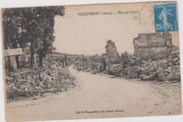 02 Folembray  Rue De Coucy - Francia