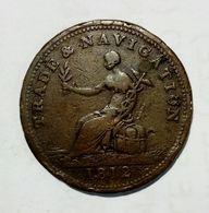 CANADA - Province Of NOVA SCOTIA - HALF Penny Token ( 1812 ) / Copper - Monetary /of Necessity