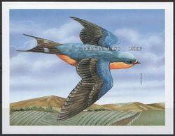 Burkina Faso 1998 MNH Imperf MS, Birds. Barn Swallow - Swallows