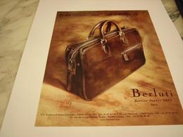 PUBLICITE AFFICHE SAC BERLUTI - Vintage Clothes & Linen