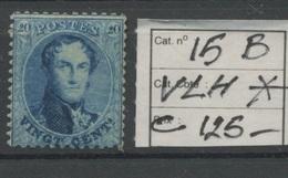 20c Neuf Très Légère Charnière  15.B. *   Cote 125,-E - 1863-1864 Medallions (13/16)
