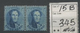 20c Neuf Paire Sans Charnière  15.B. ** - 1863-1864 Medaillons (13/16)