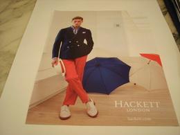 PUBLICITE AFFICHE VETEMENT HACKETT - Vintage Clothes & Linen