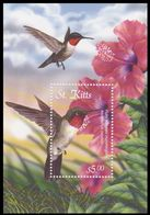 Ruby Throated Hummingbird, Birds Of Caribbean, St. Kitts MNH MS - Hummingbirds