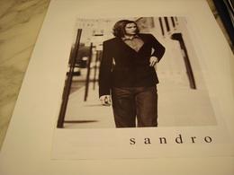 PUBLICITE AFFICHE VETEMENT SANDRO - Vintage Clothes & Linen