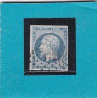 N° 14 Af Bleu Laiteux   PC 1727   LILLE  /  NORD   - REF 1447 + VARIETE - 1853-1860 Napoleon III