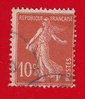 France Année 1907  Type  Semeuse Camée N° 138d (o) Lot 900 - 1906-38 Sower - Cameo