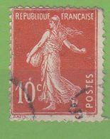 France Année 1907  Type  Semeuse Camée N° 138d (o) Lot 901 - 1906-38 Sower - Cameo