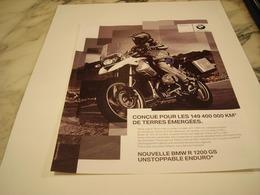 PUBLICITE AFFICHE MOTO BMW R 1200 GS 2010 - Motos
