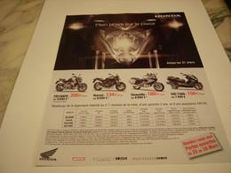PUBLICITE AFFICHE MOTO HONDA - Motos