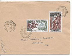 NAVAL - 1966 - ENVELOPPE De L'AGENCE POSTALE NAVALE De DUGNY LE BOURGET MARINE (SEINE ST DENIS) - Marcophilie (Lettres)