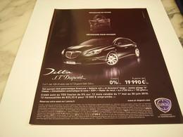 PUBLICITE AFFICHE VOITURE LANCIA DELTA DUPONT - Cars