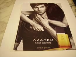 PUBLICITE AFFICHE PARFUM AZZARO AVEC ENRIQUE IGLESIAS - Fragrances