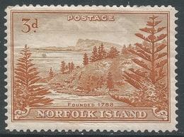 Norfolk Island. 1947-59 Bell Bay. 3d MH. SG 6 - Norfolk Island