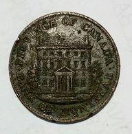 CANADA - Bank Of Montreal - HALF Penny Bank Token ( 1844 ) / Copper - Monetari / Di Necessità