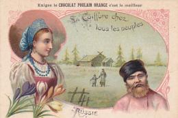 Chromo - Chocolat Poulain Orange - La Coiffure Chez Les Peuples - Russie - Poulain