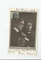 PIERRE AUGIERAS (COMPOSITEUR DE MELODIES ET DE PIECES POUR PIANO) CARTE AVEC AUTOGRAPHE A SA COUSINE 1907 - Autographs