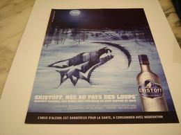 PUBLICITE AFFICHE VODKA ERISTOFF - Alcohols