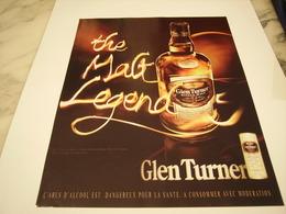 PUBLICITE AFFICHE WHISKEY GLEN TURNER - Alcohols
