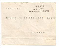KANTOOR DISPLACED PERSONS MEDAN 8.2.46 .EX P.O.W>BATAVIA RAPWI Postkantoor 12.2.46. Type 28c - Niederländisch-Indien