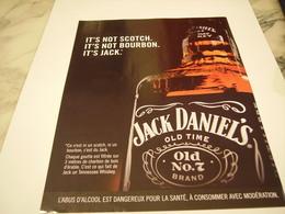 PUBLICITE AFFICHE WHISKEY JACK DANIEL S - Alcohols