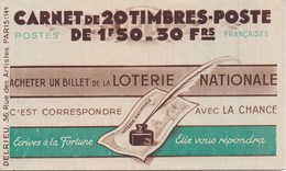 CARNET TYPE PETAIN - 20 Timbres De 1,50 Fr Brun-Rouge Neufs ** - N° 517-C1 - Carnets