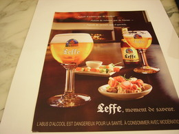 PUBLICITE AFFICHE BIERE LEFFE - Alcohols