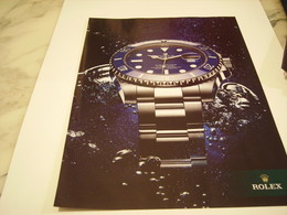 PUBLICITE AFFICHE MONTRE ROLEX - Jewels & Clocks