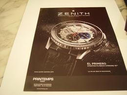 PUBLICITE AFFICHE MONTRE ZENITH - Jewels & Clocks