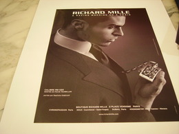 PUBLICITE AFFICHE MONTRE RICHARD MILLE - Bijoux & Horlogerie